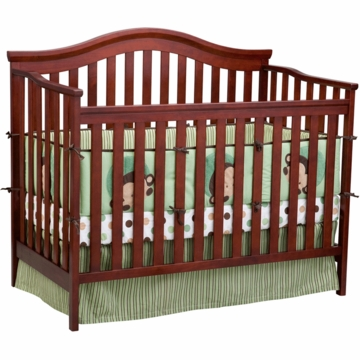 Delta Serenity 4-in-1 Convertible Crib in Brick Cherry