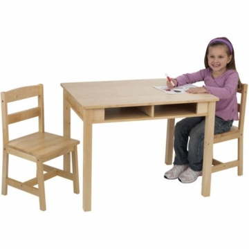 Kidkraft Rectangular Storage Table and 2 Chair Set
