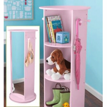 KidKraft Small Swivel Vanity Pink