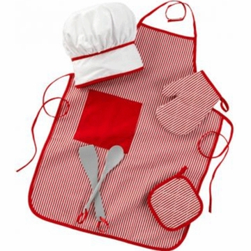 KidKraft Tasty Treats Chef Accessory Set in Red