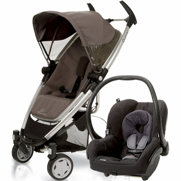Quinny Zapp Xtra + Maxi Cosi Mico Travel System 2012 Brown Boost / Total Black