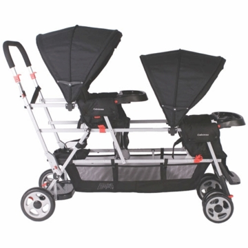 Joovy Big Caboose Stand-On Triple Stroller in Black