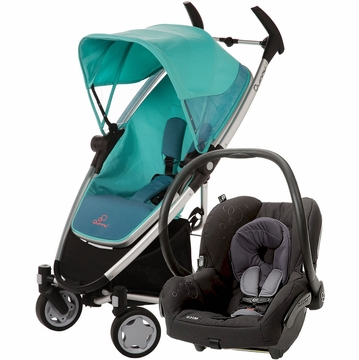 Quinny Zapp Xtra + Maxi Cosi Mico Travel System 2012 Fading Green / Total Black