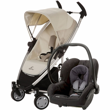 Quinny Zapp Xtra + Maxi Cosi Mico Travel System 2012 Natural Mavis / Total Black