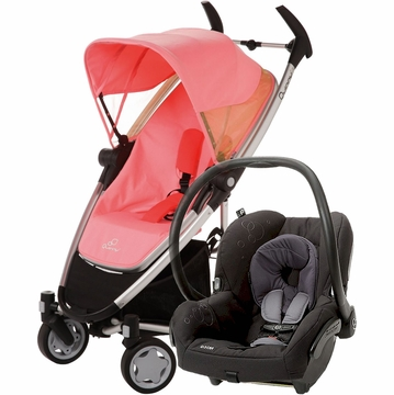 Quinny Zapp Xtra + Maxi Cosi Mico Travel System 2012 Pink Blush / Total Black
