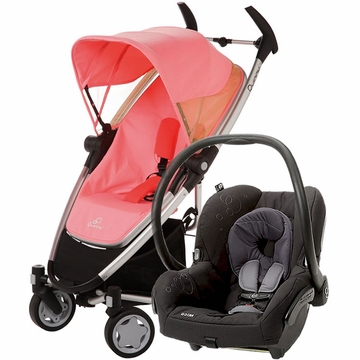 Quinny Zapp Xtra + Maxi Cosi Mico Travel System 2012 Pink Emily / Total Black