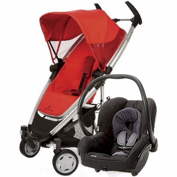 Quinny Zapp Xtra + Maxi Cosi Mico Travel System 2012 Rebel Red / Total Black