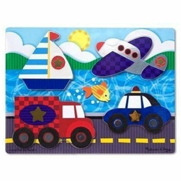 Melissa & Doug Vehicles Touch and Feel Puzzle