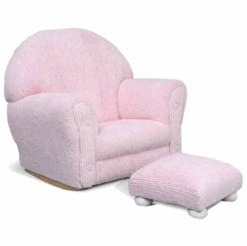 Kidkraft Pink Chenille Chair and Ottoman