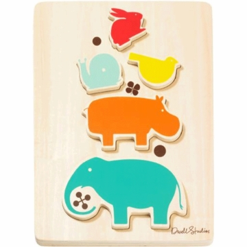 DwellStudio Stacked Animals Wooden Puzzle
