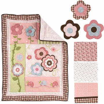 KidsLine Garden Girl 7 Piece Crib Set