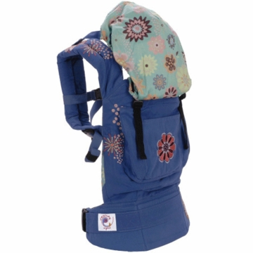 Ergobaby Carrier Organic Blue / Embroidery Starburst