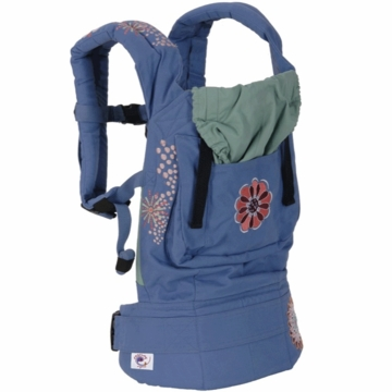 Ergobaby Carrier Organic Blue with Embroidery Applique