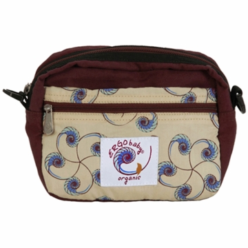 Ergobaby Organic Front Pouch Cranberry with Nautilus