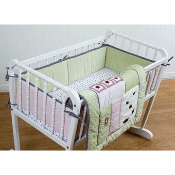 KidsLine Lady Bug 3 Piece Cradle Bedding Set
