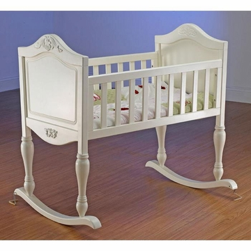 Sorelle Lisa Cradle with Mattress - French White