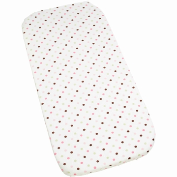 Carters Super Soft Printed Changing Pad Cover - Pink/Green Dot
