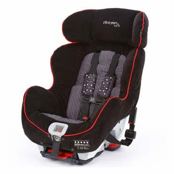 The First Years C670 Tru Fit Premier Convertible Car Seat - Elegance Black and Red