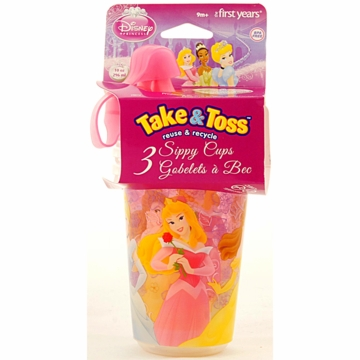 The First Years Disney Princess Take & Toss 10oz. Sippy Cups - 3 Pack