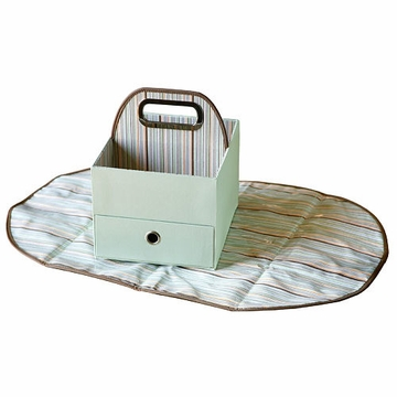 JJ Cole Diapers & Wipes Caddy - Green Stripe