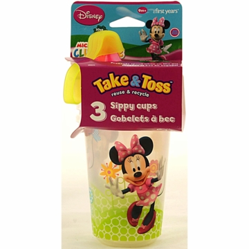 The First Years Minnie Mouse Clubhouse Take & Toss 10oz. Sippy Cups - 3 Pack