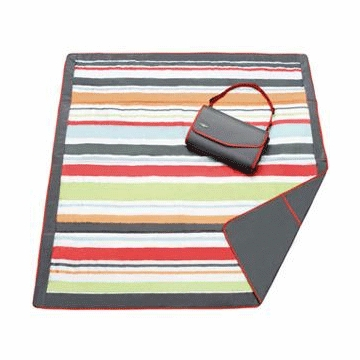 JJ Cole Essentials Blanket - Gray/Red