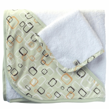JJ Cole Hooded Towel Green Tiles