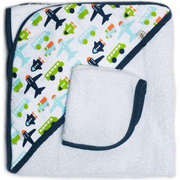 JJ Cole Hooded Towel Set - White Vroom