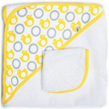 JJ Cole Hooded Towel Set - Yellow Ducks