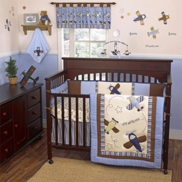 CoCo & Company Zoom Along 4 Piece Crib Bedding Set