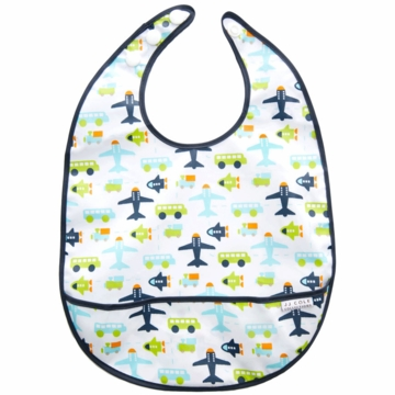 JJ Cole Large Bib - White Vroom