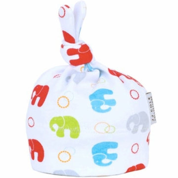 JJ Cole Layette Hat - Primary Elephants