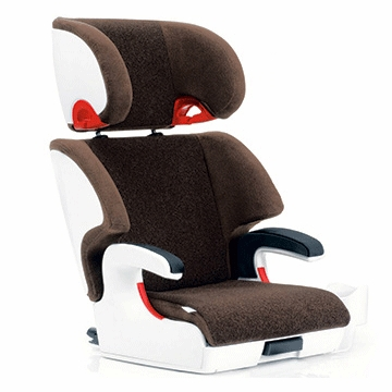 Clek Oobr Booster Seat Milk & Cookies Brown