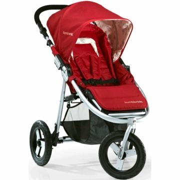"Bumbleride 2012 Indie 3 Wheel Design Stroller with 12"" Air Tires in Ruby"
