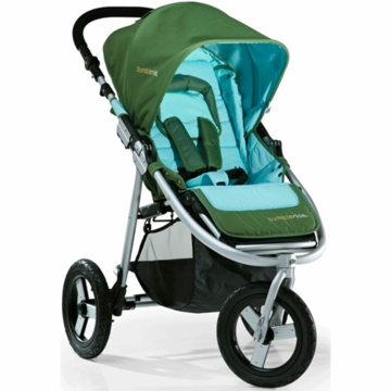 "Bumbleride 2012 Indie 3 Wheel Design Stroller with 12"" Air Tires in Seagrass"