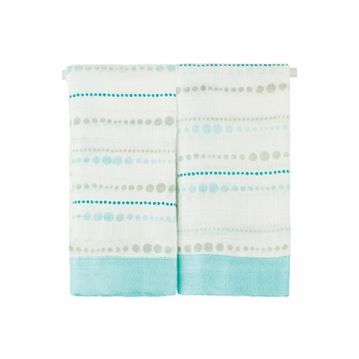 Aden + Anais Bambo Issie Security Blankets - 2 Pack - Azure Beads