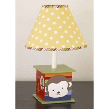 CoCaLo Baby 4 Lil' Monkeys Lamp Base & Shade