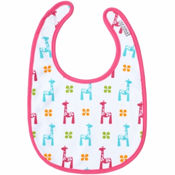 JJ Cole Soft Bib Bright Giraffes