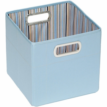 "JJ Cole Storage Box 11"" - Blue Stripe"