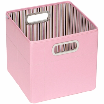 "JJ Cole Storage Box 11"" - Pink Stripe"