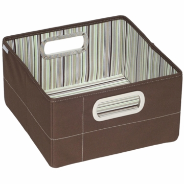 "JJ Cole Storage Box 6.5"" - Cocoa Stripe"