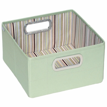 "JJ Cole Storage Box 6.5"" - Green Stripe"