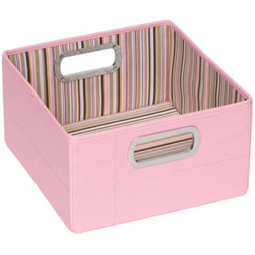 "JJ Cole Storage Box 6.5"" - Pink Stripe"