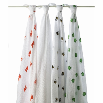 Aden + Anais Swaddle Wrap 4 Pack - Mod Turtle