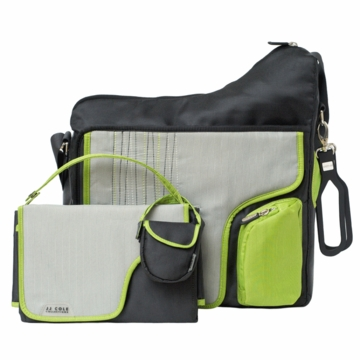 JJ Cole System 180 Bag - Green Stitch