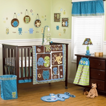 CoCaLo Peek A Boo Monsters 8 Piece Crib Set