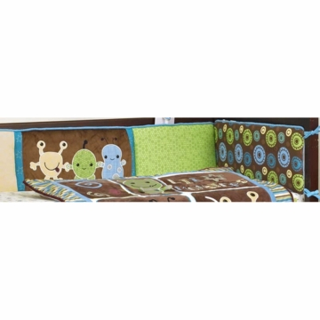 CoCaLo Peek A Boo Monsters Crib Bumper