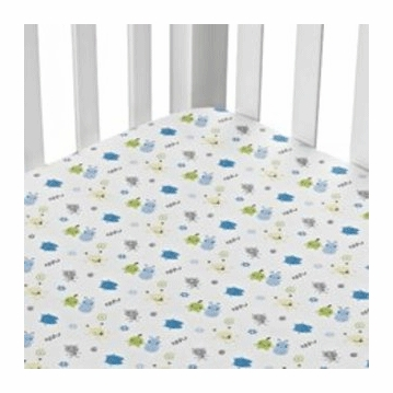 CoCaLo Peek A Boo Monsters Fitted Sheet