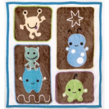 CoCaLo Peek A Boo Monsters Soft & Cozy Blanket