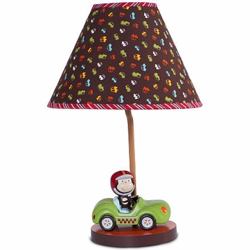 Kids Line Lamp Base and Shade - Road Rally